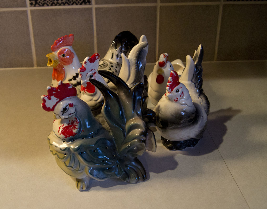 gang of chickens