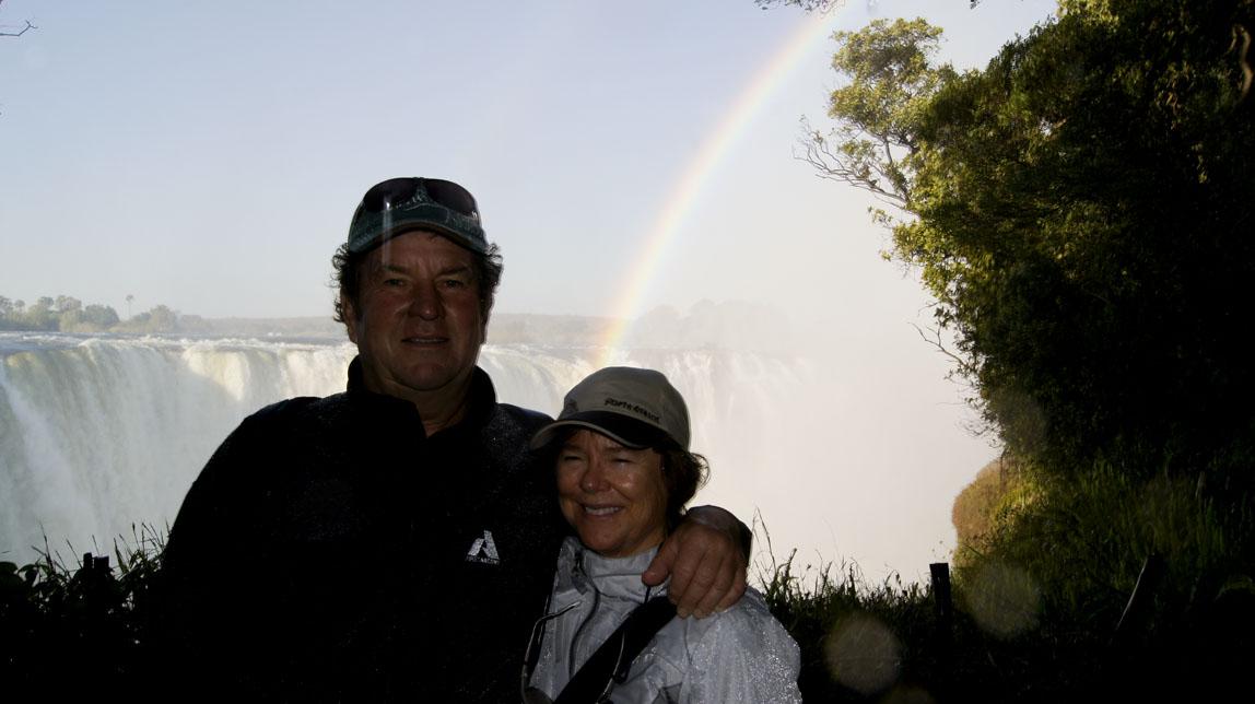 John and Patty at the falls