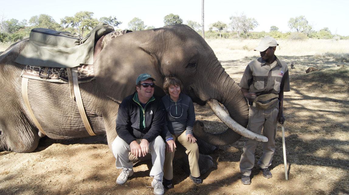 us sitting on elephant leg