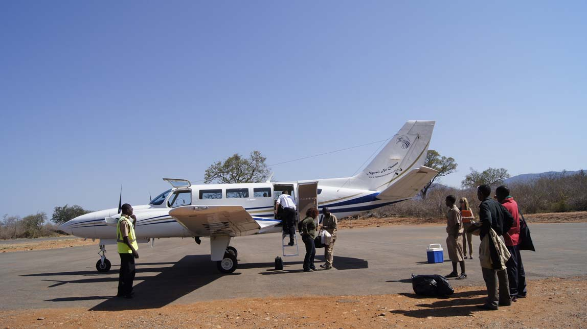 our charter plane