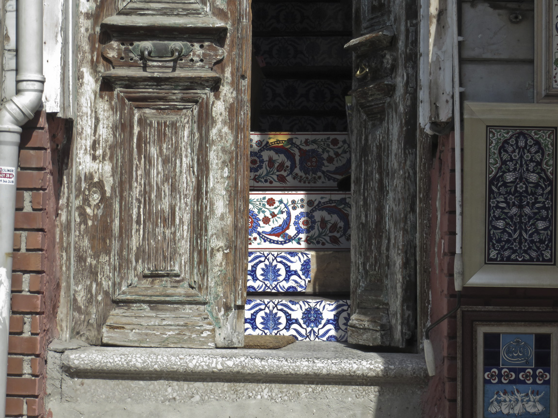 tiles in old building