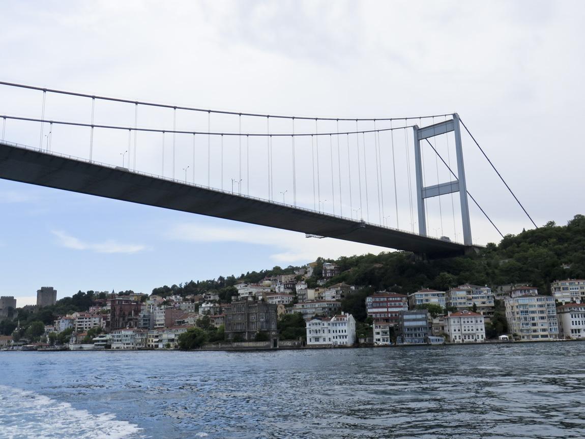back up the Bosphorus