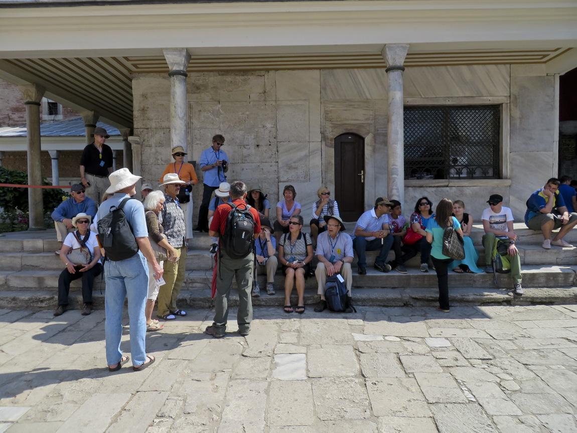 waiting at the Hagia Sophia