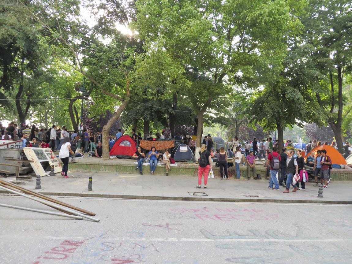 Taksim Square campers