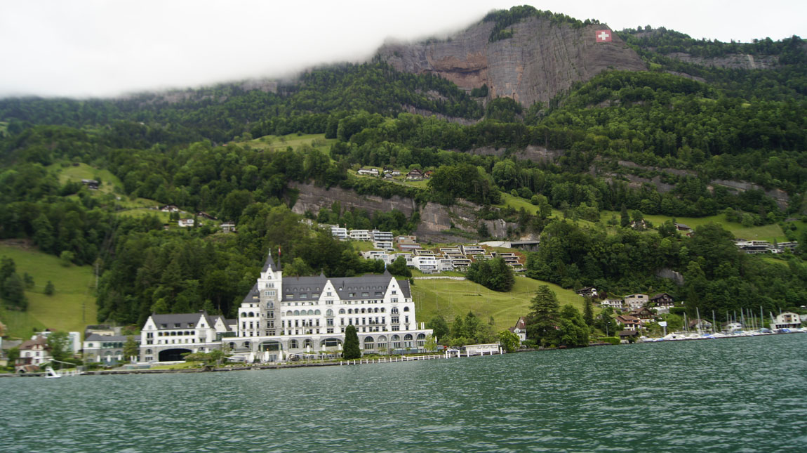 from Lake Lucerne ferry