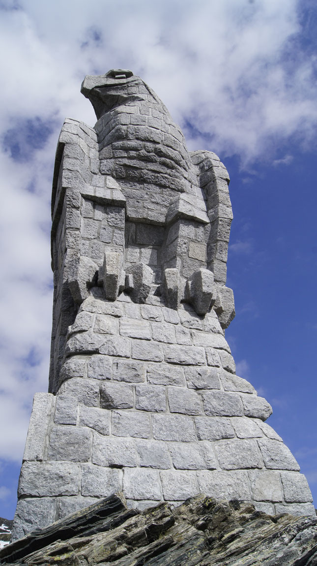 Eagle Statue on Simplon Pass